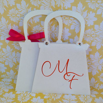 25 Purse Invitations for 15th Birthday / Sweet 16th / Quinceanera / Bachlorette /  21st Birthday / 30th Birthday