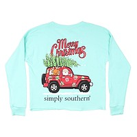 Shortie Merry Christmas Tee in Celedon by Simply Southern