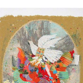 Phoenix Bird by Shraga Weil, Wall Art Size: 28.5 H x 21 W