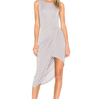 Lovers + Friends Wrap Dress in Heather Grey