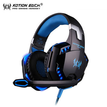 KOTION EACH G2000 Gaming headset pc Gamer Headphones Earphone auriculares Headphone ear phones with Microphone for computer