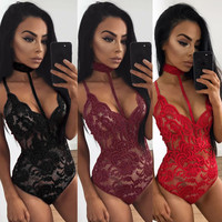 US Lingerie Lace Dress Babydoll Women's Underwear Nightwear Sleepwear Bodysuit