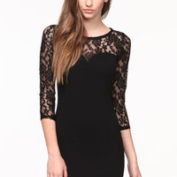 VAMPY LACE BODYCON DRESS
