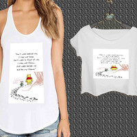 Disney Winnie The Pooh Quotes For Woman Tank Top , Man Tank Top / Crop Shirt, Sexy Shirt,Cropped Shirt,Crop Tshirt Women,Crop Shirt Women S, M, L, XL, 2XL*NP*