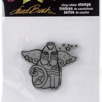 Stampendous Laurel Burch Cling Stamp -Cat Angel
