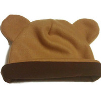 Baby Bear Cub Fleece Winter Hat for Baby, Toddler, and Children, Kids Fleece Animal Hat with Ears