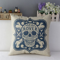 17'' Day Of The Dead Sugar Skull Cushion Covers
