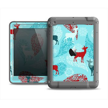 The Blue Fun Colored Deer Vector Apple iPad Air LifeProof Fre Case Skin Set