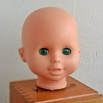 BESTEAM, Vintage head rubber doll's, Craft Supplies Tools, Doll, Toy, Children, Game, play, Art, Home decor, Supplies, pretend