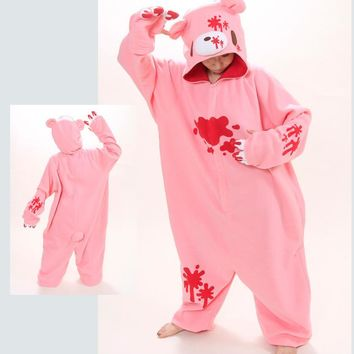 Anime Pokemon Violent bear New Cosplay Costume Polar Fleece Pajamas Party Sheepwear Onesuit