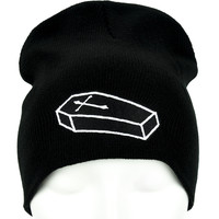 Coffin Casket Beanie Occult Clothing Knit Cap