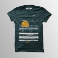 Sunset - Men's Forrest Green Cotton T-Shirt from After Hours Agenda