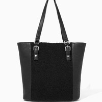Slopeside Shearling Tote | Fashion Handbags - Slope Style | charming charlie