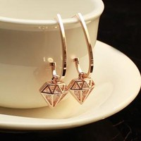Diamond Girl Earrings by forevervintage on Zibbet