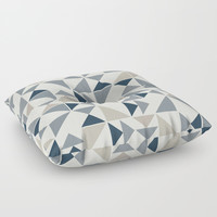 Abstract Geometric Triangle Pattern Floor Pillow by Smyrna