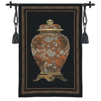 Fine Art Tapestries Oriental Jar I Tapestry - 3132-WH