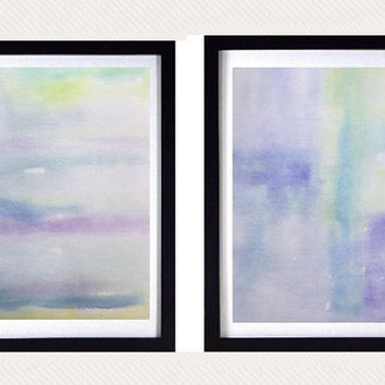 Pastel Abstract Art, modern print set, abstract nursery print, muted watercolor painting, Contemporary artwork, Blue abstract, Nursery art