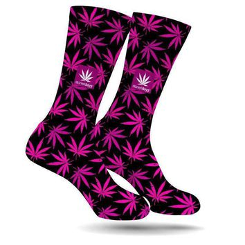 PINK SUPPORT CREW SOCKS