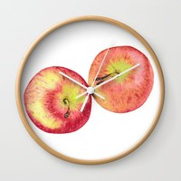 Apples Wall Clock by drawingsbylam
