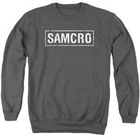 SONS OF ANARCHY/SAMCRO - ADULT CREWNECK SWEATSHIRT - CHARCOAL -