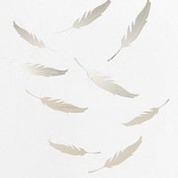 Mirrored Quill Wall Decal - Set Of 9