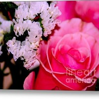 Pink Rose Bouquet Acrylic Print