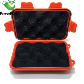 3 Colors Outdoor Survival Kit Shockproof Box Waterproof Airtight Survival Plastic Storage Case Container Carry Box First Aid Kit