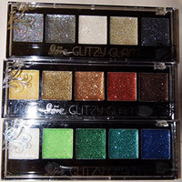 Set of 3 Glitzy Glam Glitter Eye Shadow Palette:Rock n Roll, Cali Sun & Mermaid