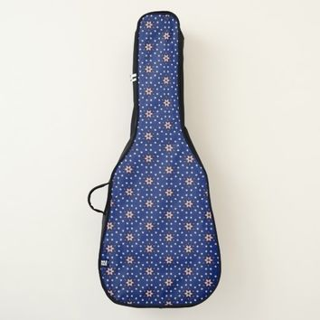 Blue Purple Abstract Design Guitar Case