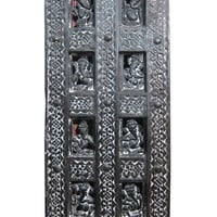 Indian Carving Panel Eight Different Poses Of Sitting Ganesha Wall Panels
