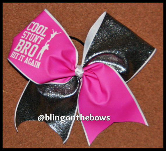 Cool stunt bro cheer bow from blingonthebowz on Etsy ...