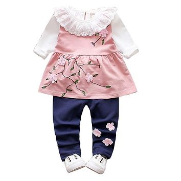 Girls Clothing Sets 3 pcs Sets Children Girls Princess Clothes Costume Spring Autumn Girls Clothes Suit for Baby Clothes