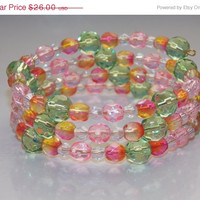 33%OFF Pink and Green Wrap Bracelet