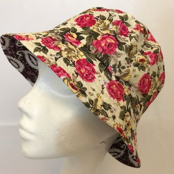 Bucket-Hat-Floral Hawaiian-Boonies-Hunting-Fishing-Outdoor-Men-Women Cap Floral