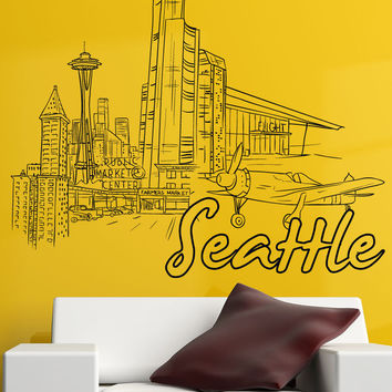 Vinyl Wall Decal Sticker Seattle #1411