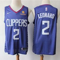 Los Angeles Clippers 2 Kawhi Leonard Blue Swingman Jersey