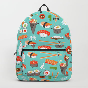 Happy Sushi Backpack by Heather Dutton