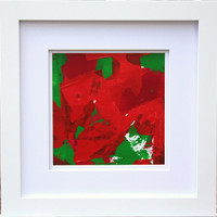 Abstract expressionist Painting Reds Greens modern abstraction