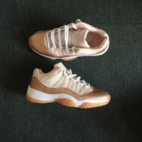 Air Jordan 11 Retro Low WMNS Rose Gold AJ11 Sneakers - Best Deal Online