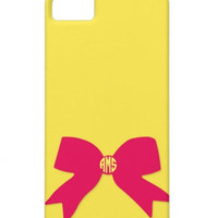 Build Your Own Bow Monogram Phone Case