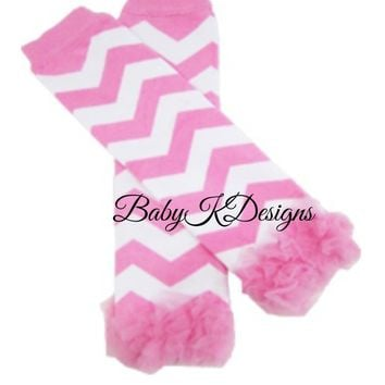 Baby Leg Warmers. Chevron Striped Legwarmers. Baby Girls PinkChiffon Ruffle Legwarmers. Purple n White Dance Birthday Dress Up Ballet