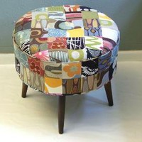 Vintage Inspired Patchwork Foot Stool/Ottoman by ljindustries