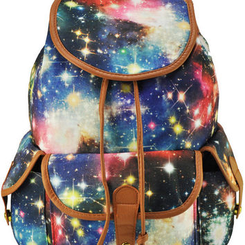 Blue Stars Canvas Backpacks Bag