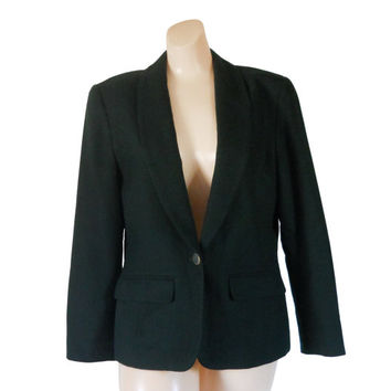 Green Blazer Wool Blazer Pendleton Blazer Christmas Blazer Pendleton Wool Ladies Blazer Women Blazer Jacket Women Christmas Clothing Winter