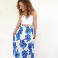 Ocean Wanderer Skirt- Blue