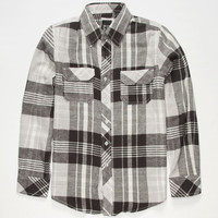 Micros Ely Boys Flannel Shirt Black  In Sizes