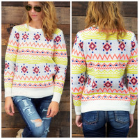 SZ M/L Candy Land Ivory Sweater