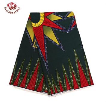 2017 Ankara African Polyester Wax Prints Fabric Super Hollandais Wax High Quality 6 yards African Fabric for Party Dress PL541