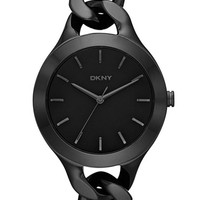 Women's DKNY 'Chambers' Round Chain Bracelet Watch, 36mm