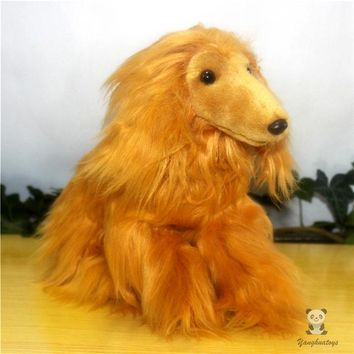 Afghan Hound Dog Stuffed Animal Plush Toy 12""